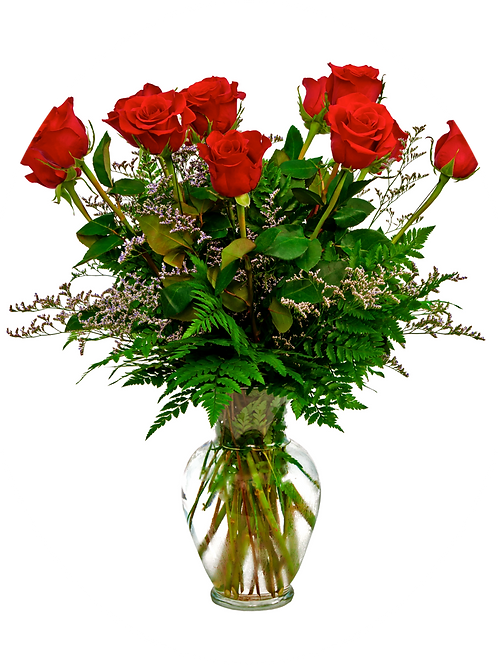 Traditional Red Roses - One Dozen