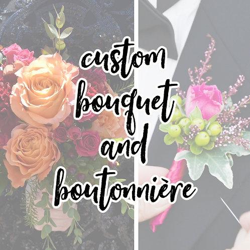 Homecoming 2020 - Custom Bouquet & Boutonnière Set - PREMIUM
