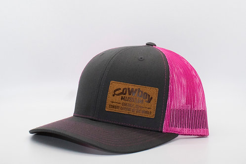 Museum Hat - Gray/Pink