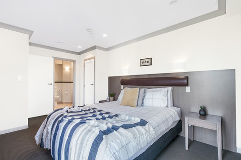 This double bedroom boasts its own deck with stunning views over Myers Park.