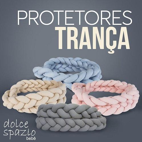 Trança Protetor Tricô 3,8 metros rosa, cinza, azul claro ou escuro