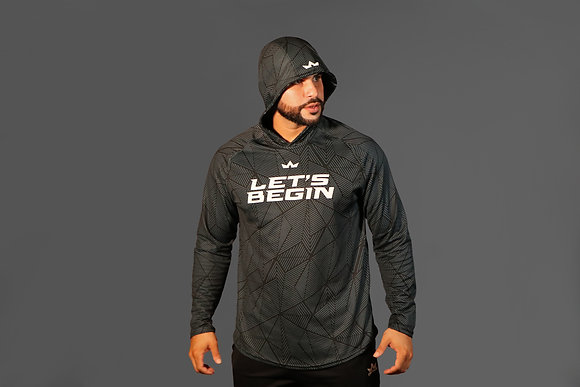 OPTIME Let's Begin Men's Long Sleeves Training Hoodie