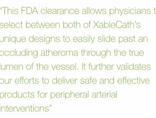 ­XableCath Receives Second FDA Clearance for Its Peripheral Arterial Catheters