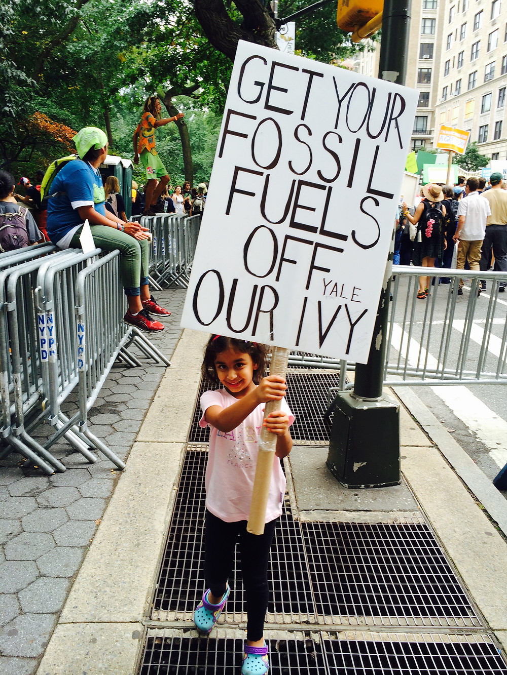 My 4-year old at People's Climate March, NYC, 9/21/14