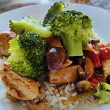 Chicken with plum and hoisin sauce
