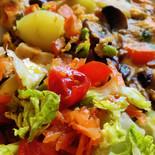 Halloumi frittata with a salad