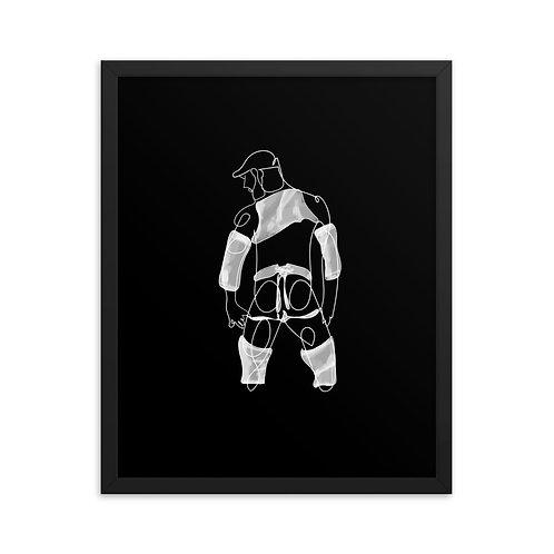 lonniedraws x julien moulet framed gallery art print