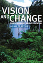 """Image of """"Vision and Change in Undergradute Biology Education: A Call to Action"""" book cover"""