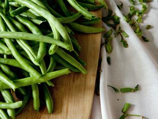 Green beans fresh from your garden