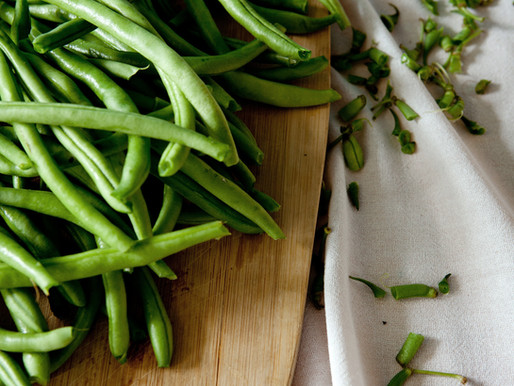 Seared Green Beans with shallots and hazelnut picada