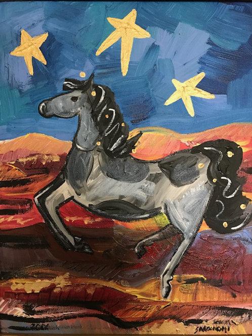 Star Horse- 2006 12 x 14 Acrylic