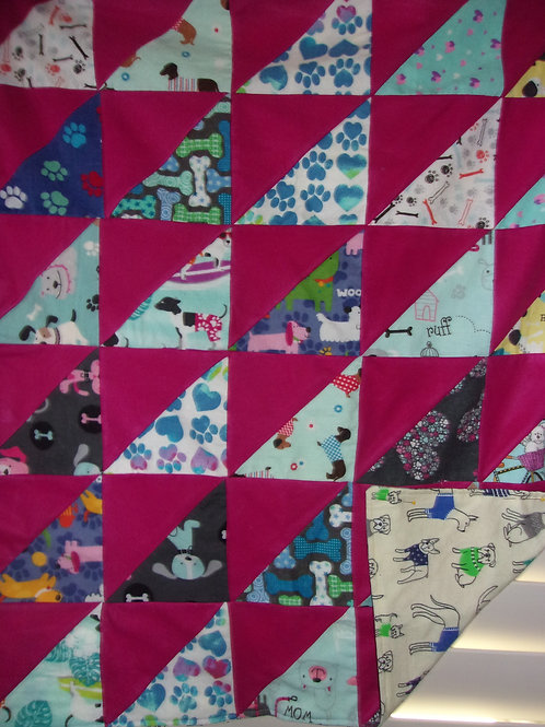 Triangle quilt -flannel - 29 x 34