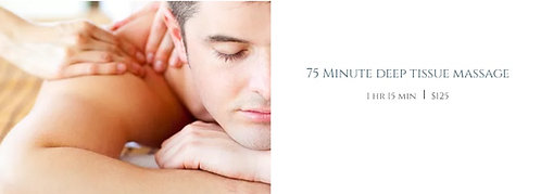 75 Minute deep tissue massage