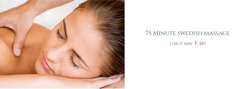 75 Minute swedish massage