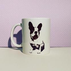 French bulldog ceramic mug