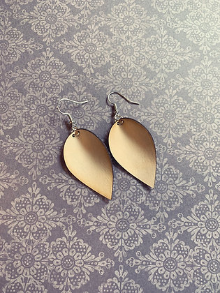 Natural Leather Drop Earrings
