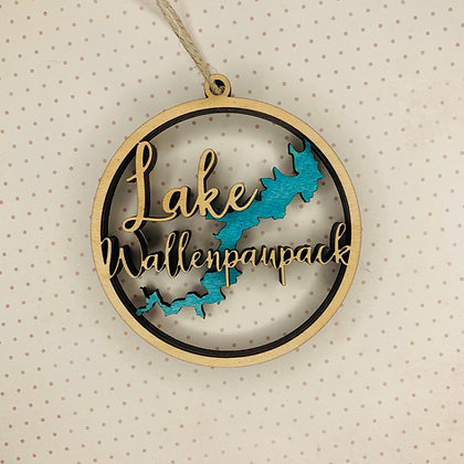 Layered Lake Wallenpaupack Ornament