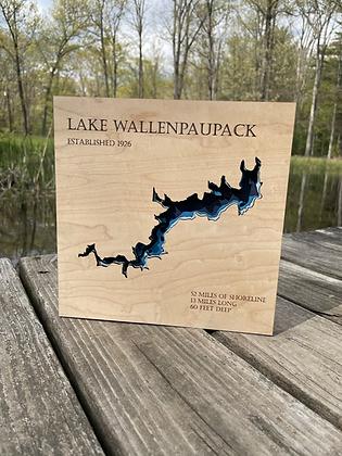 Medium Lake Wallenpaupack Depth Sign