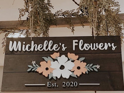 Custom florist sign