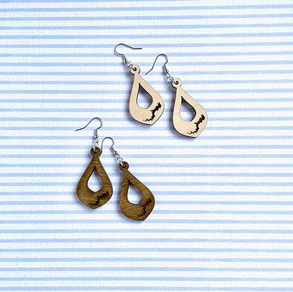 Lake Wallenpaupack Open Drop Earrings