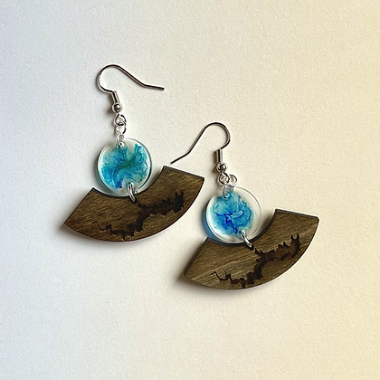 Lake Wallenpaupack Aqua Swirl Earrings