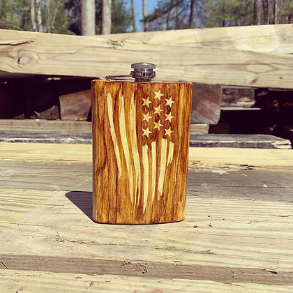 Woodgrain Flag Flask