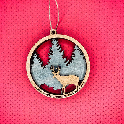 Layered Buck Ornament