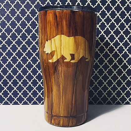 Woodgrain Bear Tumbler