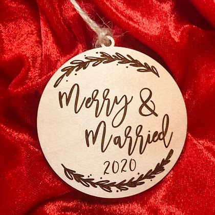 Merry & Married  Ornament