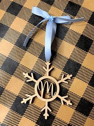 Snowflake Initial Ornament