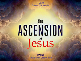Today on God's Calendar: IYAR 25 - The Ascension of Jesus