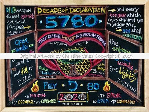 "5780 ""Decade of Declaration"" Prophetic Flash Card"