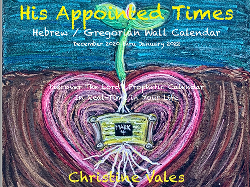 SOLD OUT - 2021 WALL CALENDAR: His Appointed Times