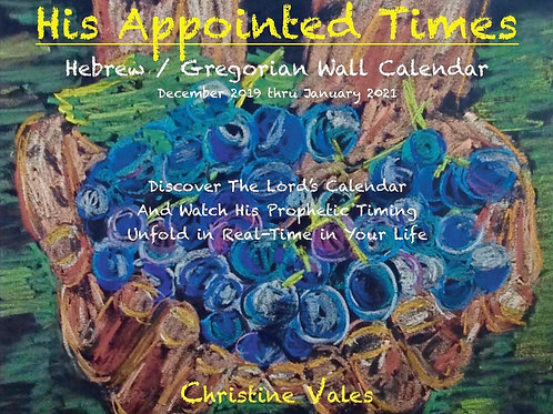 RETIRED // SOLD OUT  // 2020 Wall Calendar: His Appointed Times