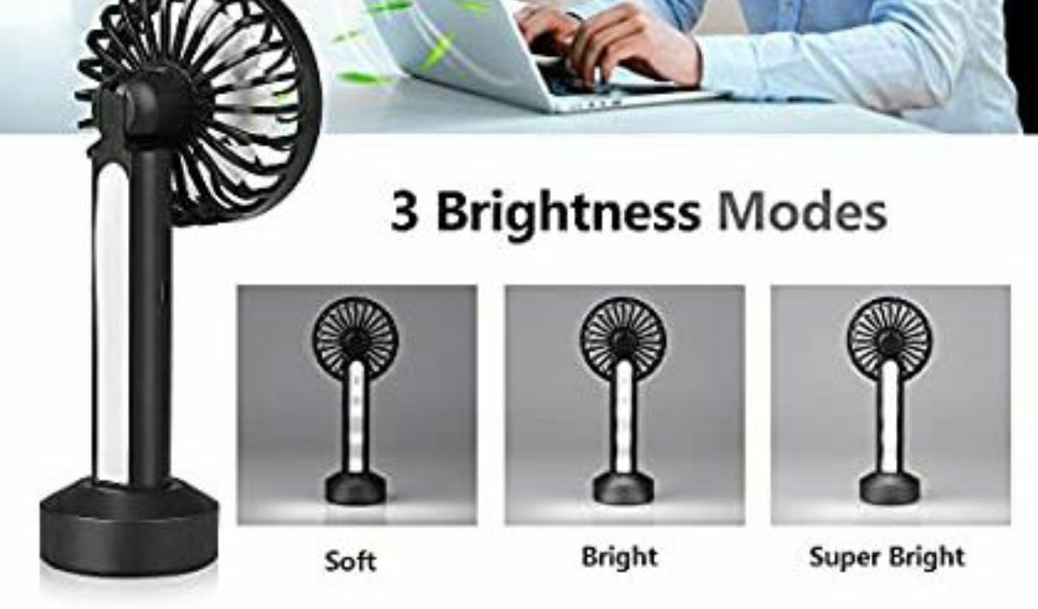 Portable Fan with LED Lights
