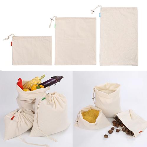 Cotton Produce Bags - 8 piece