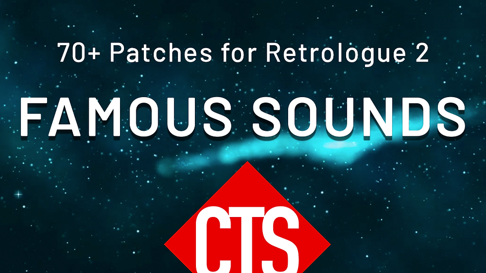 Famous Sounds for Retrologue 2 Synth