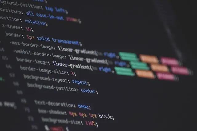 Código de programación en una pantalla de computadora