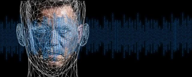Una representación digital del rostro de un hombre