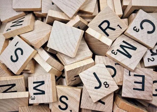 Fichas de Scrabble