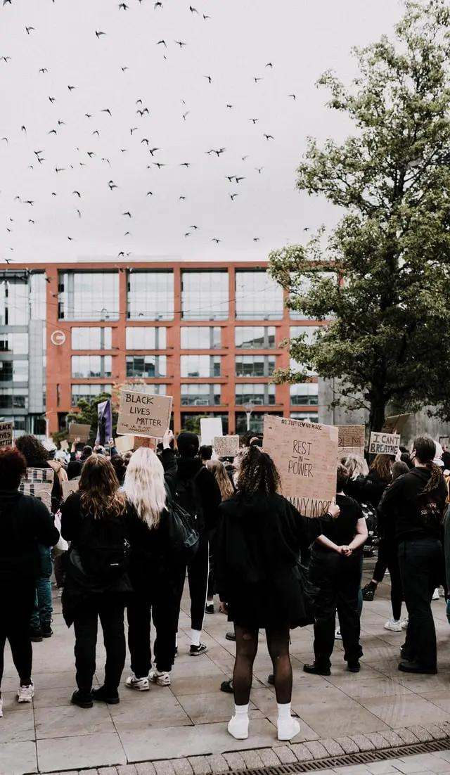 Una manifestación de jóvenes