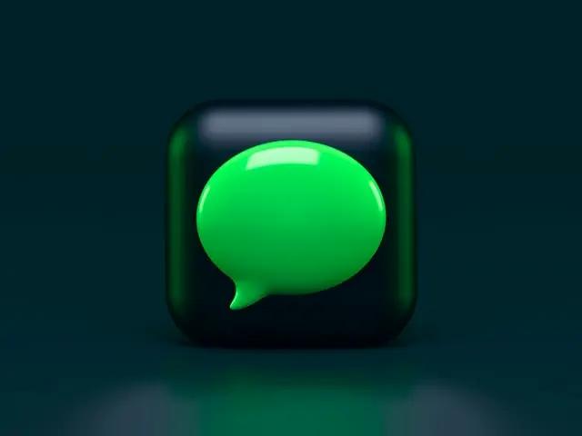 Cubo con ícono de Apple iMessage
