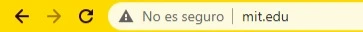"""Ejemplo de sitio web no seguro sin certificado de seguridad SSL, en el cual aparece la leyenda """"No es seguro"""". #MKTedu #MercadotecniaEducativa #MarketingEducativo"""