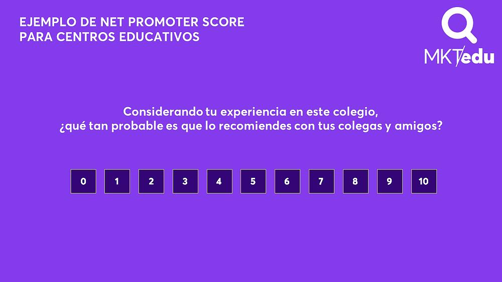 Net Promoter Score para colegios