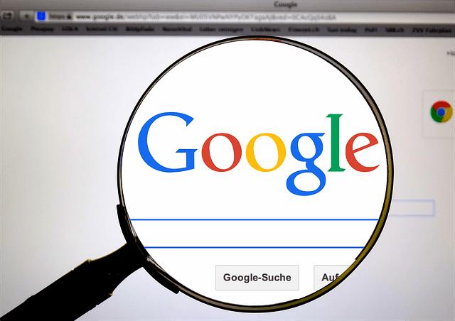 La pantalla de búsqueda de Google