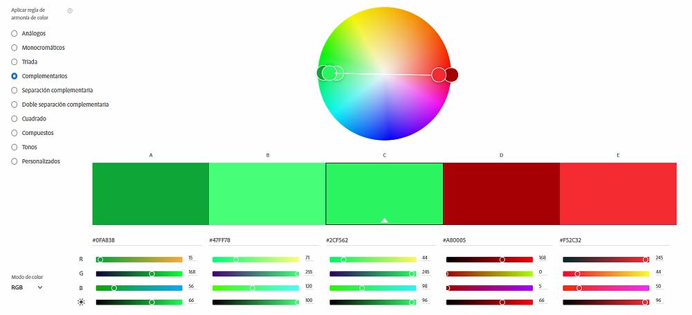 Rueda de color de Adobe