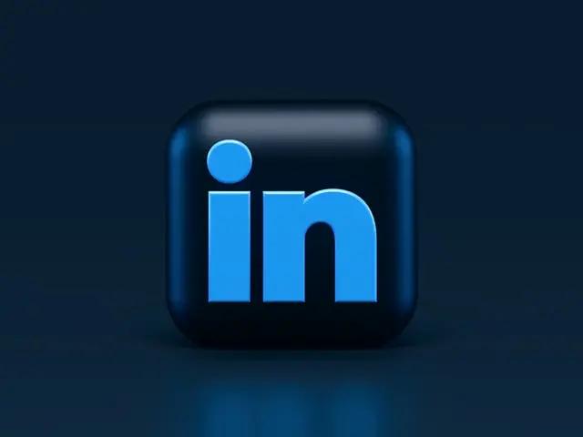 Cubo con el logo de LinkedIn