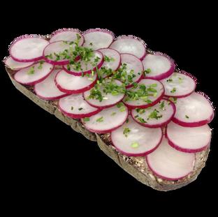 Brot mit Radieschen