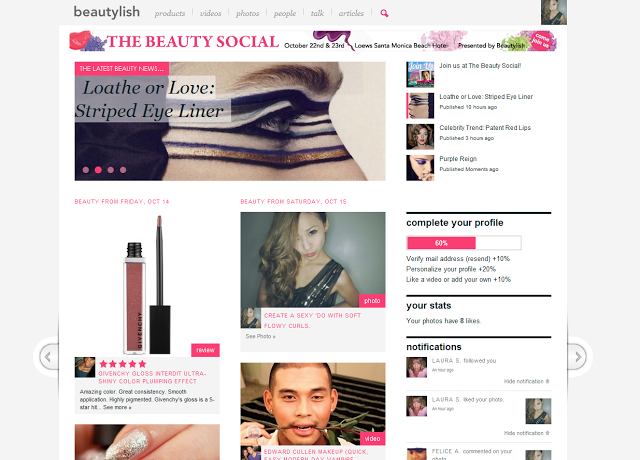 Beauty Social Front Page Feature