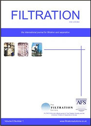 Front cover of the Filtration journal